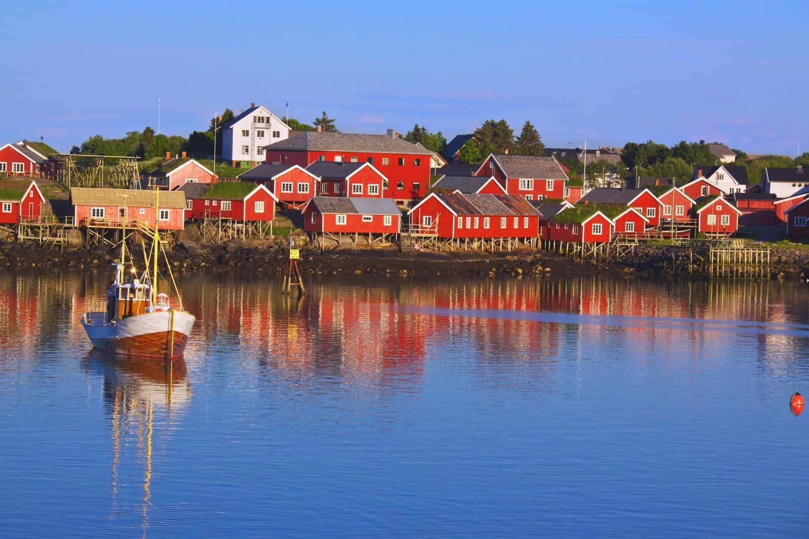 Reine, picturesque fishing village on Lofoten, Norway
