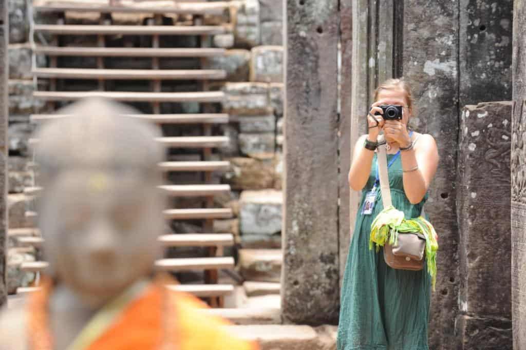 V chráme Bayon v Kambodzi (autor Jozef Magat)